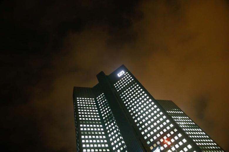 The Deutsche Bank headquarters are seen in Frankfurt, Germany October 28, 2015.  REUTERS/Kai Pfaffenbach/File Photo