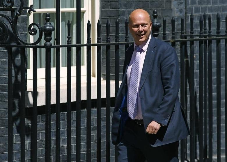 Chris Grayling arrives at Number 10 Downing Street in London, Britain July 14, 2016.    REUTERS/Neil Hall