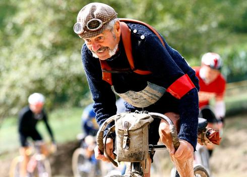 Vintage bikes on the Eroica
