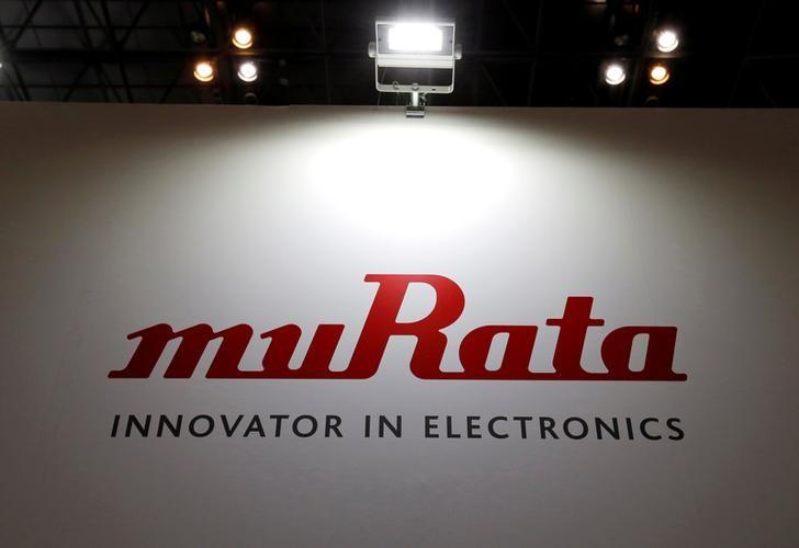 A logo of Murata Manufacturing Co is pictured at CEATEC (Combined Exhibition of Advanced Technologies) JAPAN 2016 at the Makuhari Messe in Chiba, Japan, October 3, 2016.   REUTERS/Toru Hanai/File Photo