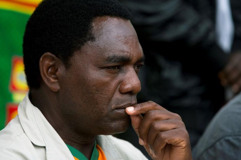 United Party for National Development (UPND) Presidential candidate Hakainde Hichilema looks on during a rally in Lusaka January 18, 2015.  REUTERS/Rogan Ward/File Photo