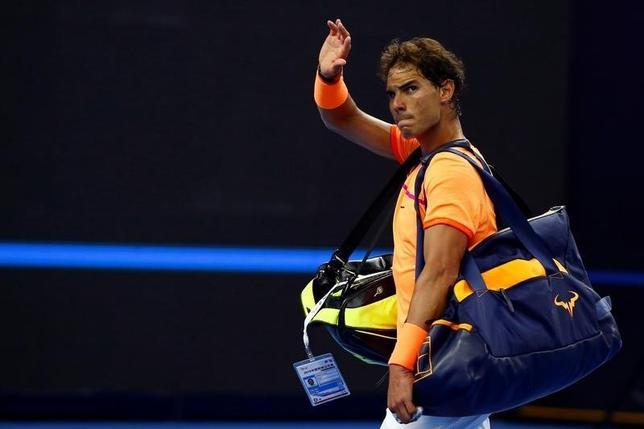 10月7日、テニスの中国オープン、男子シングルス準々決勝、元世界ランク1位で第2シードのラファエル・ナダル(写真)が同20位のグリゴル・ディミトロフに2─6、4─6で敗れた(2016年 ロイター/Thomas Peter)