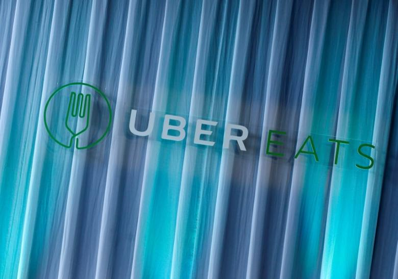 UberEats' logo is pictured during the launching event of food-delivery service UberEats in Tokyo, Japan, September 28, 2016. REUTERS/Kim Kyung-Hoon