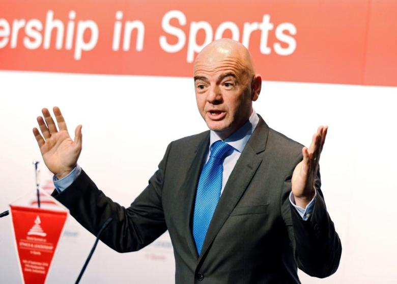 FIFA President Gianni Infantino attends the World Summit on Ethics and Leadership in Sports at the headquarters of FIFA in Zurich, Switzerland September 16, 2016. REUTERS/Ruben Sprich