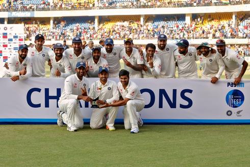 India beat New Zealand in Indore test