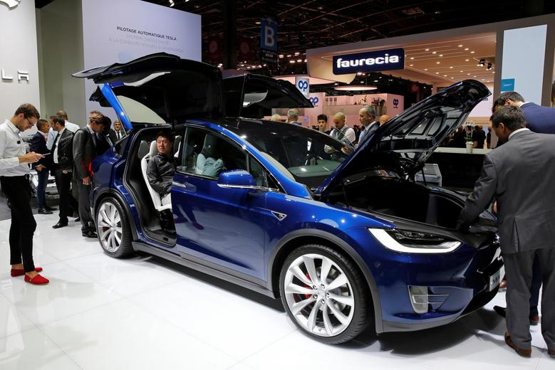 A Tesla Model X. REUTERS/Benoit Tessier