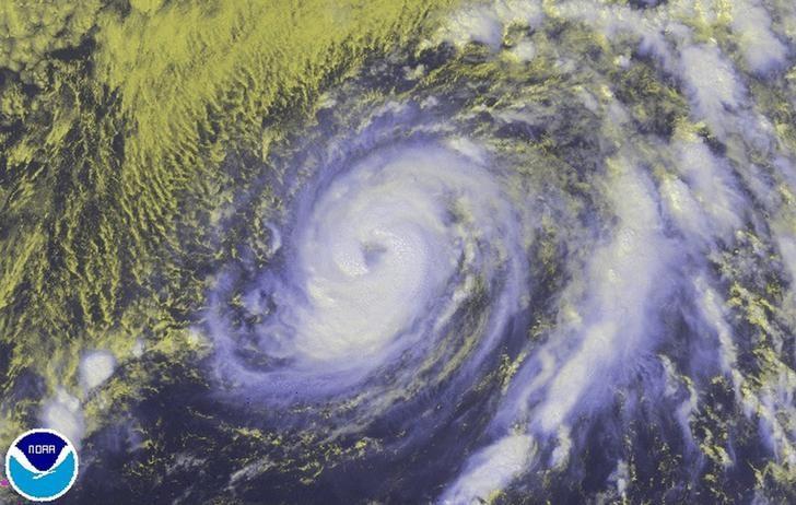 Hurricane Nicole is seen in the Atlantic Ocean in an image from NOAA's GOES-East satellite taken at 1:15pm ET (17:45 GMT) October 11, 2016.  NOAA/Handout via REUTERS