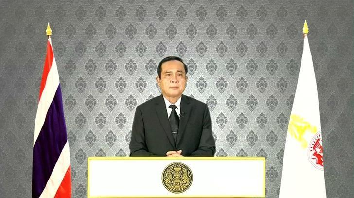 Thai Prime Minister Prayuth Chan-ocha makes a statement following the death of Thailand's King Bhumibol Adulyadej, in Bangkok, in this still image taken from video October 13, 2016. Reuters TV/Thai Pool