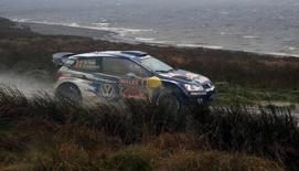 Rallying - Wales Rally GB - FIA World Rally Championship - Wales - 15/11/15 France's Sebastien Ogier and France's Julien Ingrassia of Volkswagen Motorsport during SS19 at Brenig Mandatory Credit: Action Images / Peter Cziborra Livepic
