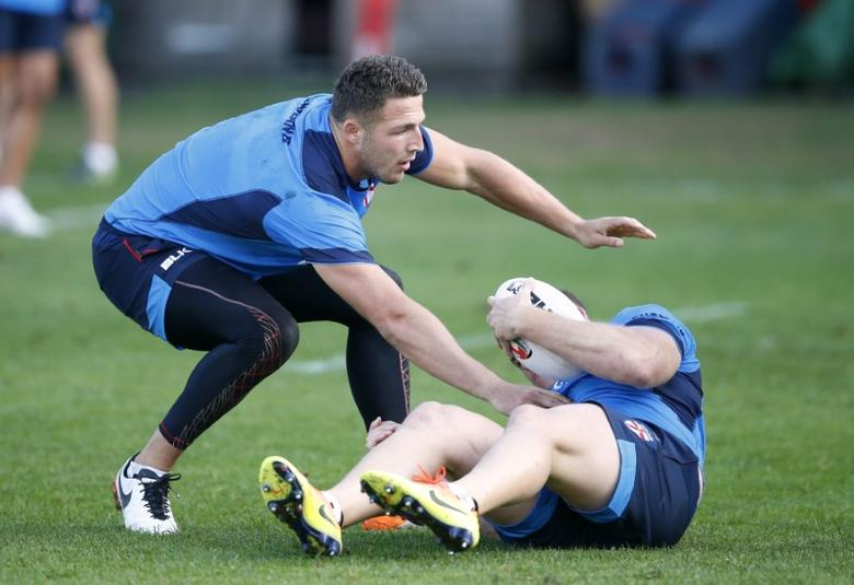 Britain Rugby League - England Training - Honourable Artillery Company, London - 17/10/16England's Sam Burgess during trainingAction Images via Reuters / Matthew Childs