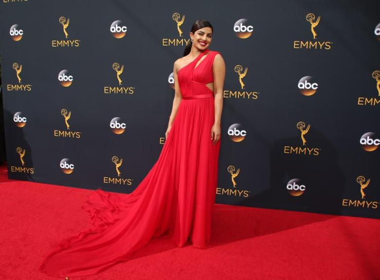 Actress Priyanka Chopra arrives at the 68th Primetime Emmy Awards in Los Angeles, California U.S., September 18, 2016.  REUTERS/Lucy Nicholson