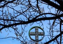 Bayer, en cours de rachat du géant américain des semences Monsanto, a annoncé des résultats trimestriels supérieurs aux attentes, grâce notamment à sa branche pharmaceutique et à une performance meilleure que prévu dans les pesticides. /Photo d'archives/REUTERS/Ina Fassbender