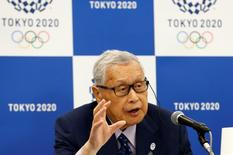 Yoshiro Mori, Japan's President of the Tokyo 2020 Organizing Committee, talks during a news conference in Tokyo, Japan, May 26, 2016. REUTERS/Thomas Peter