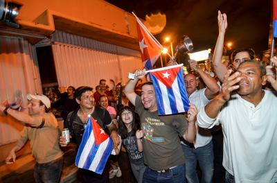 Little Havana celebrates Castro's death