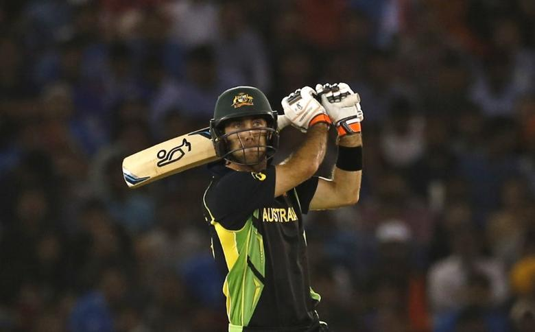 Cricket - India v Australia - World Twenty20 cricket tournament - Mohali, India - 27/03/2016. Australia's Glenn Maxwell plays a shot. REUTERS/Adnan Abidi  Picture Supplied by Action Images