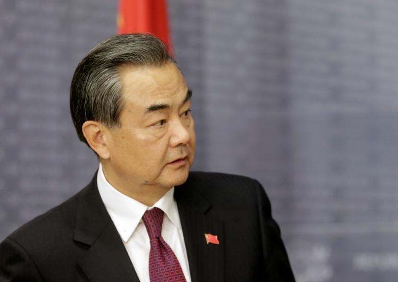 China's Foreign Minister Wang Yi looks on in Riga, Latvia, November 4, 2016.  REUTERS/Ints Kalnins