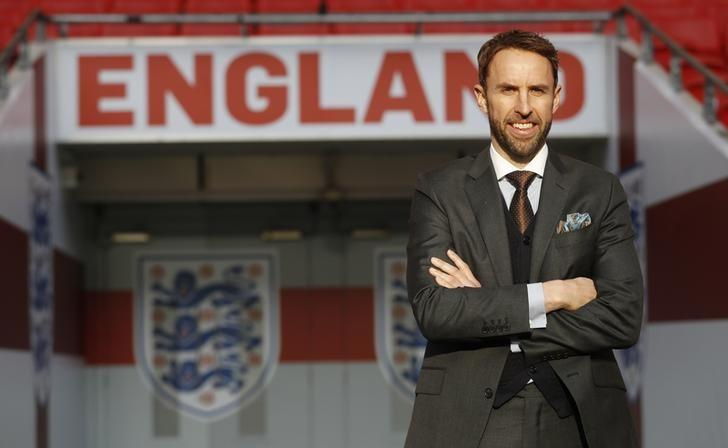 Football Soccer Britain - England - Gareth Southgate Press Conference - Wembley Stadium - 1/12/16 England Manager Gareth Southgate poses after the press conference Action Images via Reuters / Carl Recine Livepic