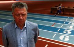 All-Russian Athletics Federation (ARAF) president Dmitry Shlyakhtin speaks during an interview in Moscow, Russia, May 23, 2016. REUTERS/Sergei Karpukhin