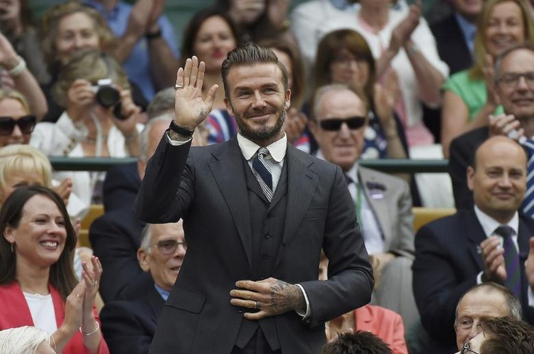 Britain Tennis - Wimbledon - All England Lawn Tennis & Croquet Club, Wimbledon, England - 2/7/16 David Beckham in the royal box on centre court REUTERS/Toby Melville  Picture Supplied by Action Images
