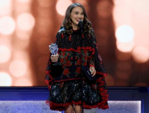 Natalie Portman accepts the award for best actress for