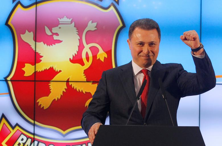 Leader of Macedonian ruling party VMRO-DPMNE and former Prime Minister Nikola Gruevski addresses the media in Skopje, Macedonia, December 12, 2016. REUTERS/Ognen Teofilovski