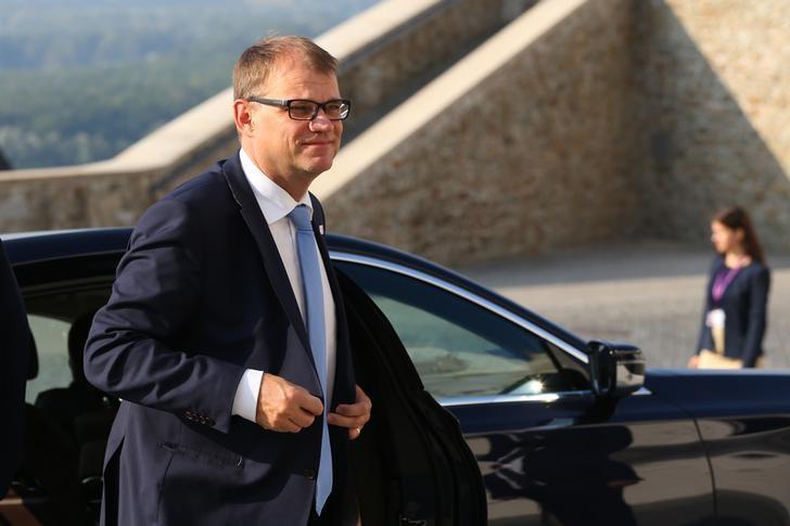 Finland's Prime Minister Juha Sipila arrives for the European Union summit in Bratislava, Slovakia, September 16, 2016. REUTERS/Yves Herman