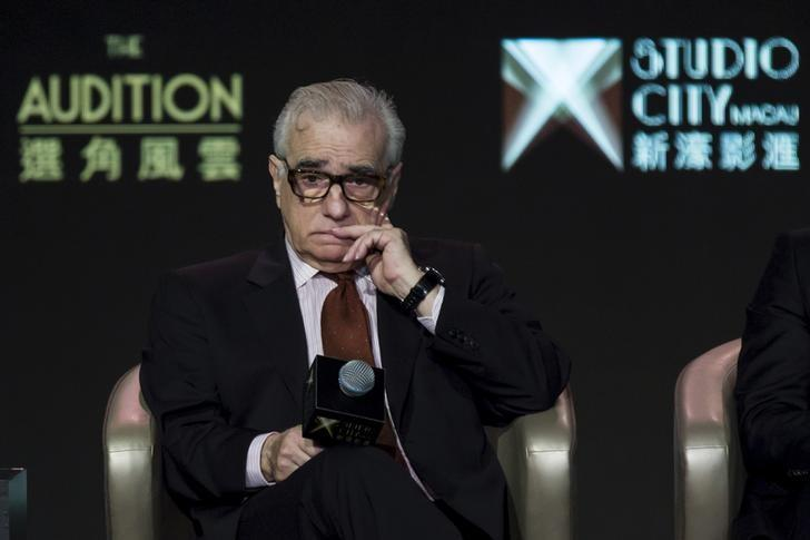 U.S. director Martin Scorsese attends a news conference for the short film ''The Audition'' at Melco Crown's Studio City in Macau, China October 27, 2015. REUTERS/Tyrone Siu