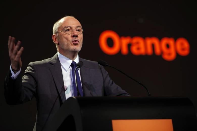 French telecom operator Orange Chairman and Chief Executive Officer Stephane Richard speaks during the company's  shareholders meeting in Paris, France, June 7, 2016.    REUTERS/Philippe Wojazer