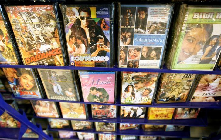 Bollywood movies are seen on display at a video store in Islamabad, Pakistan October 20, 2016. REUTERS/Caren Firouz/Files