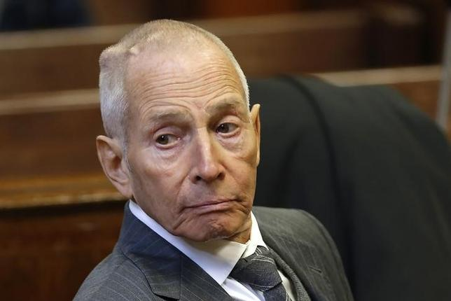 Real estate heir Robert Durst appears in a New York criminal courtroom on December 10, 2014, for his trial on charges of trespassing on property owned by his estranged family.  REUTERS/Mike Segar/Files