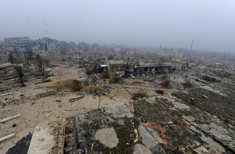 A general view shows damage in the Old City of Aleppo, Syria December 13, 2016. REUTERS/Omar Sanadiki