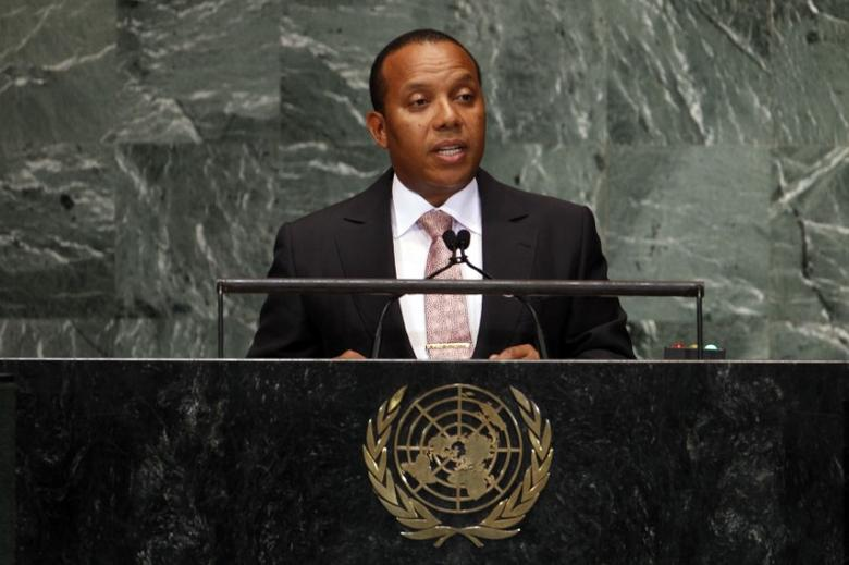 Sao Tome and Principe Prime Minister Patrice Emery Trovoada addresses the 67th United Nations General Assembly at U.N. headquarters in New York, September 28, 2012. REUTERS. REUTERS/Keith Bedford