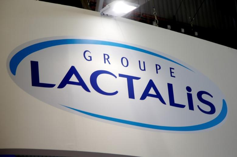 Logo of the dairy group Lactalis are seen at the food exhibition Sial in Villepinte, near Paris, France, October 17, 2016.  REUTERS/Charles Platiau