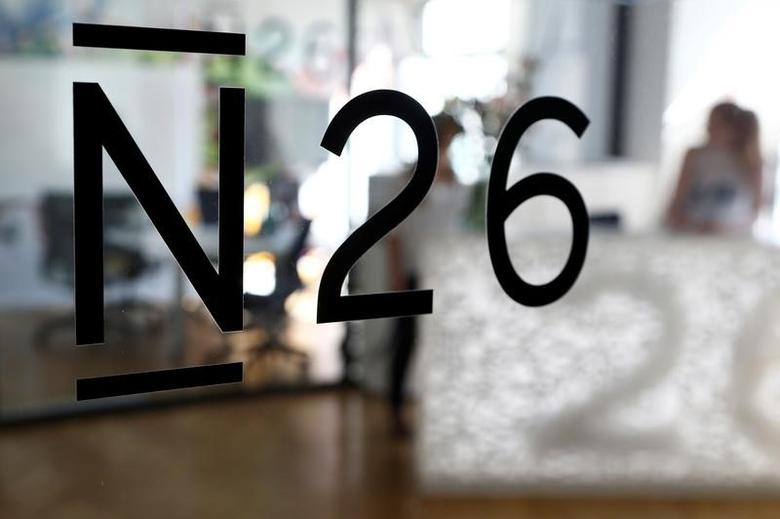 The logo of the Fintech N26 (Number26), seen in the N26 office in Berlin, Germany, August 19, 2016.    REUTERS/Axel Schmidt