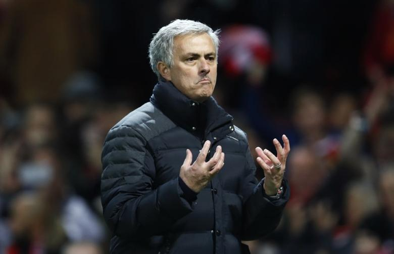 Britain Football Soccer - Manchester United v Middlesbrough - Premier League - Old Trafford - 31/12/16 Manchester United manager Jose Mourinho celebrates after the game  Action Images via Reuters / Jason Cairnduff Livepic