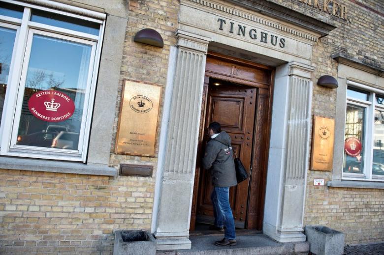A South Korean journalist enters a courthouse in Aalborg, Jutland, Denmark, January 2, 2017. Scanpix Denmark/Henning Bagger/via Reuters