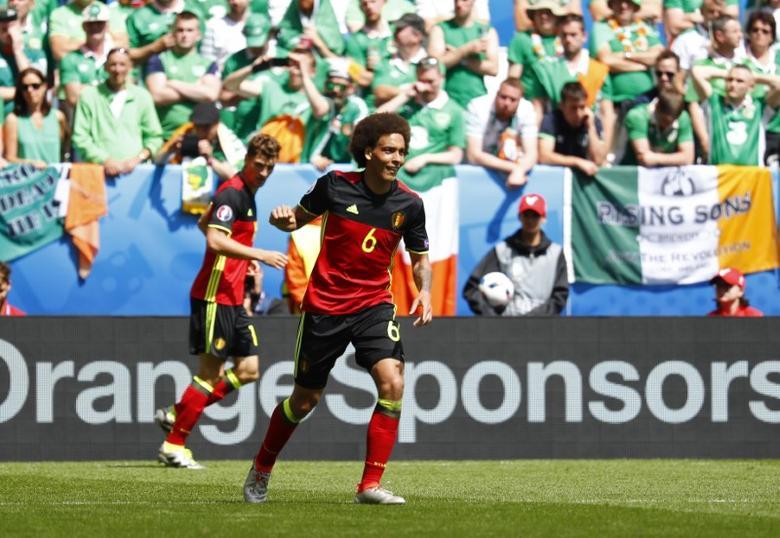 Football Soccer - Belgium v Republic of Ireland - EURO 2016 - Group E - Stade de Bordeaux, Bordeaux, France - 18/6/16Belgium's Axel Witsel celebrates after scoring their second goal REUTERS/Michael DalderLivepic