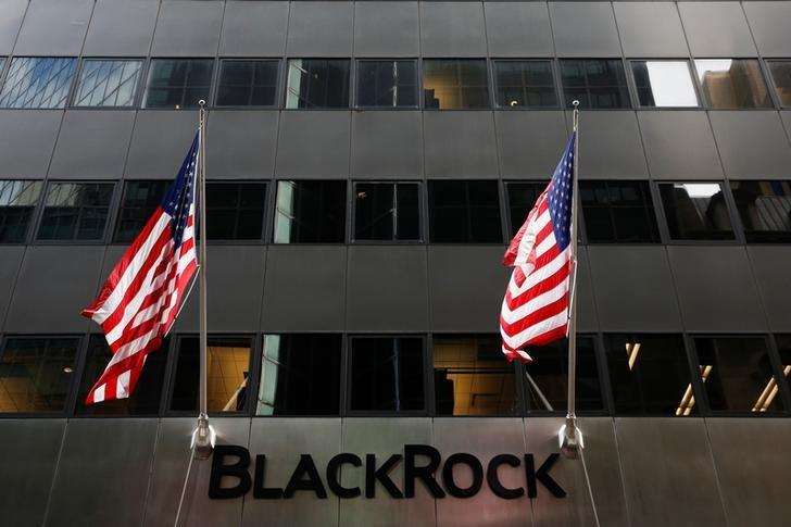 The BlackRock logo is seen outside of its offices in New York City, U.S., October 17, 2016.  REUTERS/Brendan McDermid/Files