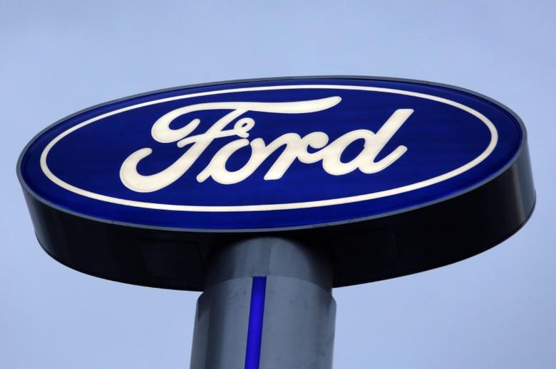 A Ford logo is pictured at a car dealership in Monterrey, Mexico, November 9, 2016. REUTERS/Daniel Becerril/Files