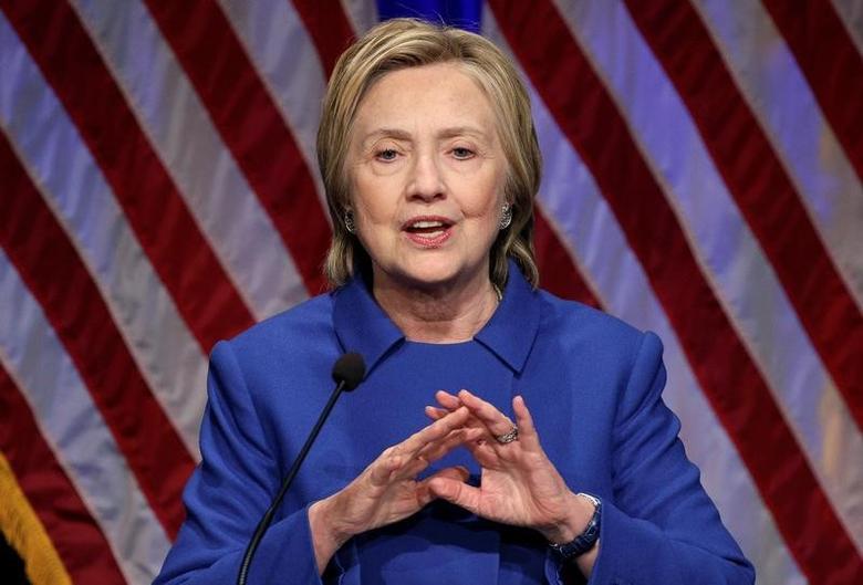 Hillary Clinton speaks to the Children's Defense Fund in Washington, U.S., November 16, 2016.  REUTERS/Joshua Roberts/Files