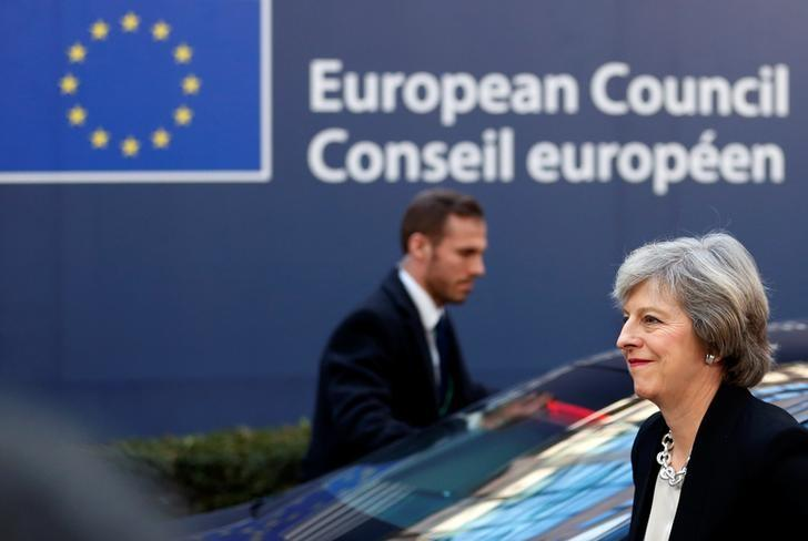 Britain's Prime Minister Theresa May arrives at a European Union leaders summit in Brussels, Belgium December 15, 2016. REUTERS/Francois Lenoir