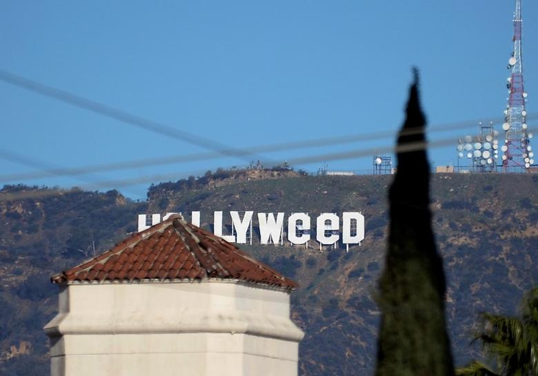 File Photo: A view shows the ''iconic ''Hollywood'' sign overlooking Southern California's film-and-television hub, which was defaced overnight in the Hollywood Hills in Los Angeles, California, U.S. January 1, 2017.  REUTERS/Kevork Djansezian/File Photo