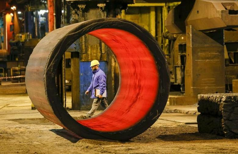A worker walks in the foundry at the Areva Creusot Forge site in Le Creusot, France, January 11, 2017.   REUTERS/Robert Pratta