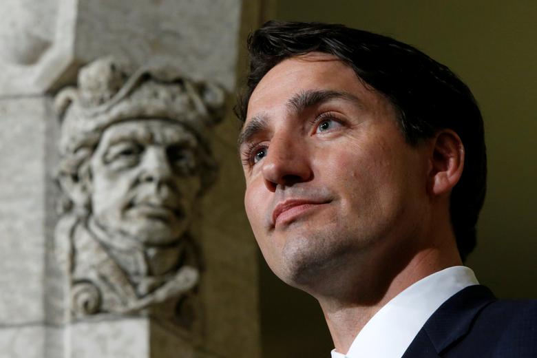 Canada's Prime Minister Justin Trudeau takes part in a news conference on Parliament Hill following a cabinet shuffle in Ottawa, Ontario, Canada, January 10, 2017. REUTERS/Chris Wattie