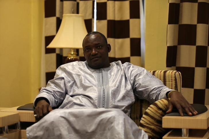 Gambia's president-elect Adama Barrow is seen during an exclusive interview with Reuters in Banjul, Gambia December 12, 2016. REUTERS/Afolabi Sotunde