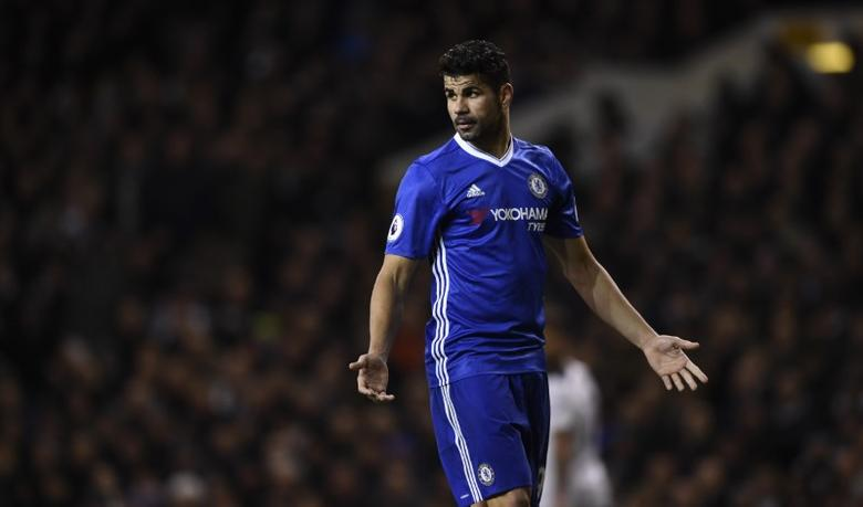 Britain Football Soccer - Tottenham Hotspur v Chelsea - Premier League - White Hart Lane - 4/1/17 Chelsea's Diego Costa  Reuters / Dylan Martinez