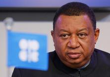 Генеральный секретарь ОПЕК Мухаммед Баркиндо. Стабилизация нефтяных рынков может наступить в 2017 году, сказал генеральный секретарь ОПЕК Мухаммед Баркиндо во время пресс-конференции с президентом Венесуэлы Николасом Мадуро.   REUTERS/Heinz-Peter Bader