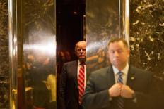 Presidente eleito dos EUA, Donald Trump, na Trump Tower, em Manhattan. 16/01/2017 REUTERS/Alex Wroblewski