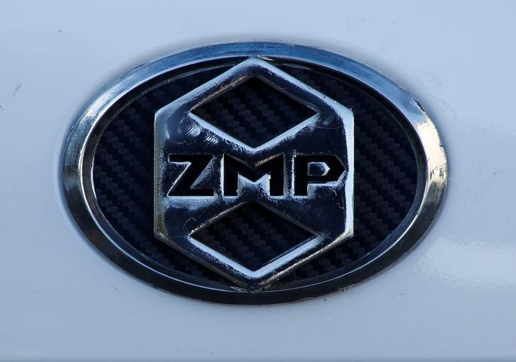 A ZMP logo on its RoboCar is pictured during its demonstration in Tokyo, Japan, January 31, 2017.  Picture taken on  January 31, 2017.  REUTERS/Kim Kyung-Hoon