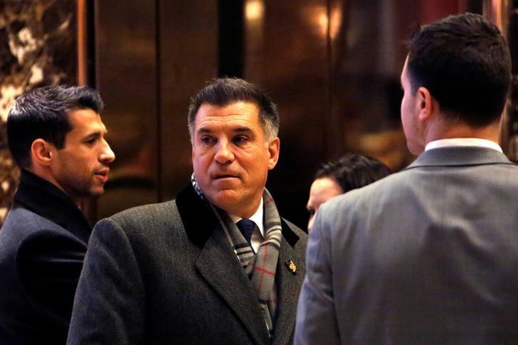 Businessman Vincent Viola enters Trump Tower in Manhattan, New York City, U.S., December 16, 2016. REUTERS/Andrew Kelly/Files